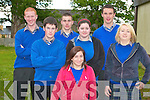 EXAMS: Showing no nerves on Wednesday morning on their way in to sit their first Leaving Cert exam at Presentation School, Milltown, were Mary McKenna, Toma?s O'Donoghue, Shane Noonan, Colm O'Shea, Podge Murphy, Lorraine O'Gorman and Aoife Lynch.   Copyright Kerry's Eye 2008