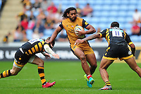 Thretton Palamo of Bristol Rugby takes on the Wasps defence. Aviva Premiership match, between Wasps and Bristol Rugby on September 18, 2016 at the Ricoh Arena in Coventry, England. Photo by: Patrick Khachfe / JMP
