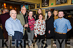 The staff of the Manor West Hotel enjoying the night out in the Brogue Inn on Sunday night. L-r, Noel Lee, Brian Votta, Honor Clifford, Irma Deriene, Victoria, Ruth O'Sullivan, Annette Galvin and Gerard Aherne.