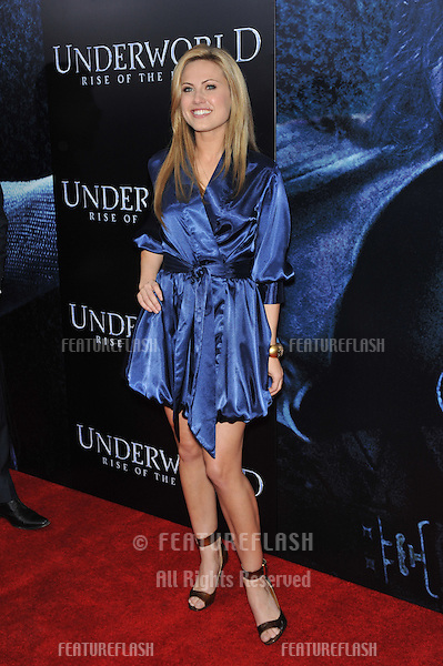 "Vail Bloom at the world premiere of ""Underworld: Rise of the Lycans"" at the Arclight Theatre, Hollywood..January 22, 2009  Los Angeles, CA.Picture: Paul Smith / Featureflash"