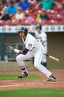 Cedar Rapids Kernels designated hitter Nelson Molina (23) at bat during a game against the Dayton Dragons on July 24, 2016 at Perfect Game Field in Cedar Rapids, Iowa.  Cedar Rapids defeated Dayton 10-6.  (Mike Janes/Four Seam Images)