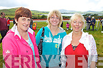 ENJOYING: Bernie Garvey, Emer Garvey and Noreen Rohan, Ballyferriter enjoying the Dingle Races on Sunday..