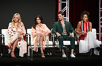 "BEVERLY HILLS - AUGUST 1: Natalie Alyn Lind, Danielle Campbell, Matt Lauria, Ashley Madekwe onstage during the ""Tell Me A Story"" panel at the CBS All Access portion of the Summer 2019 TCA Press Tour at the Beverly Hilton on August 1, 2019 in Los Angeles, California. (Photo by Frank Micelotta/PictureGroup)"