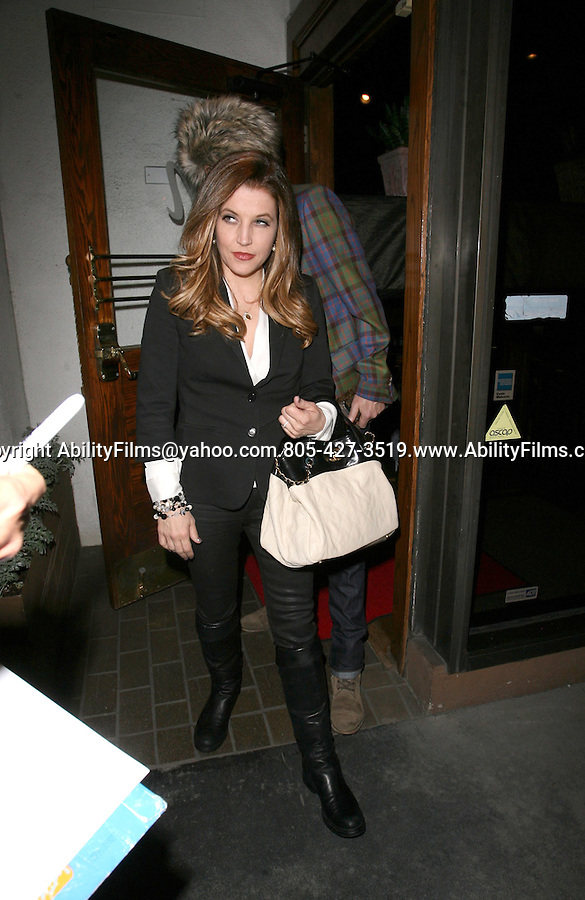 April 10th 2012 Tuesday night Lisa Marie Presley &amp; husband Michael Lockwood with friends dine at Mr.Chow in Beverly Hills<br /> <br /> AbilityFilms@yahoo.com<br /> 805-427-3519<br /> www.AbilityFilms.com