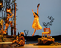 London, UK. 25.03.2016. balletLORENT presents SNOW WHITE, as part of the Family Weekend, at Sadler's Wells. Artistic Director, Liv Lorent (MBE), directs and choreographs. Set design is by Phil Eddols, with lighting design by Malcolm Rippeth, and costume design by Libby Everall. balletLORENT's 11 professional dancers are joined by a cast of 12 local children from Vittoria Primary School in the Islington Borough, aged 6 - 9 years old. Picture shows: Natalie Trewinnard (Snow White). Photograph © Jane Hobson.
