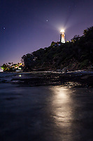 Diamond Head Lighthouse at night, Honolulu