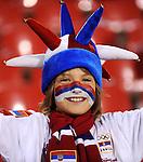 FUDBAL, BEOGRAD, 10.10.2009. -   Navijac Srbije. Fudbalska reprezentacija Srbije u pretposlednjem kolu kvalifikacija za Svetsko prvenstvo 2010. godine u Juznoj Africi pobedila je Rumuniju rezultatom 5:0. Foto: Nenad Negovanovic - Sportska centrala