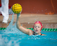 STANFORD, CA - March 23, 2019: Mackenzie Wiley at Avery Aquatic Center. The #2 Stanford Cardinal took down the #18 Harvard Crimson 20-7.