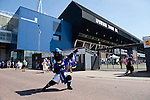 Ipswich Town 1 Blackburn Rovers 1, 18/08/2012. Portman Road, Championship. Blackburn visit Suffolk for their first game back in the Championship. The Ipswich mascot drumming up support in the August sunshine. Photo by Simon Gill.
