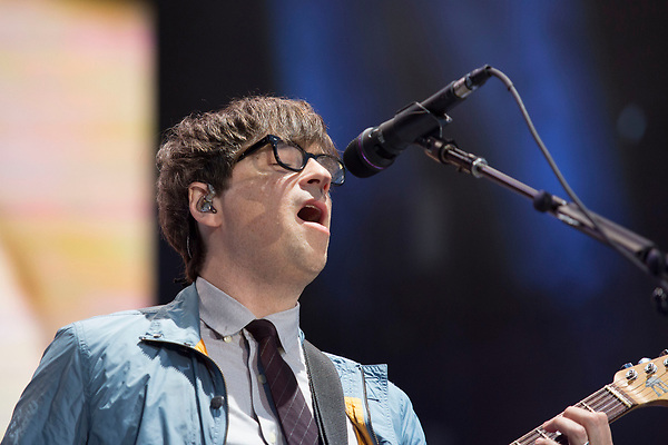 Weezer frontman Rivers Cuomo rocks the Roxy Stage Saturday night at Music Midtown.