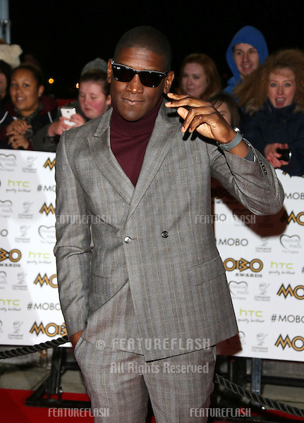 Labrinth arriving for The MOBO awards 2012 held at the Echo Arena, Liverpool. 03/11/2012 Picture by: Henry Harris / Featureflash