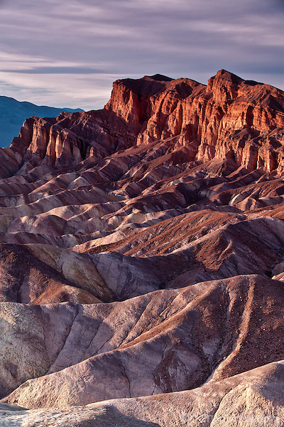 Sunset over Zabriskie Point, Death Valley, California