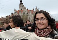Studentenproteste gegen Zustand und Form des Deutschen Bildungssystems an den Hochschulen und Universitäten. Foto: Norman Rembarz....Norman Rembarz , ( ASV-Autorennummer 41043728 ), Holbeinstr. 14, 04229 Leipzig, Tel.: 01794887569, Hypovereinsbank: BLZ: 86020086, KN: 357889472, St.Nr.: 231/261/06432 - Jegliche kommerzielle Nutzung ist honorar- und mehrwertsteuerpflichtig! Persönlichkeitsrechte sind zu wahren. Es wird keine Haftung übernommen bei Verletzung von Rechten Dritter. Autoren-Nennung gem. §13 UrhGes. wird verlangt. Weitergabe an Dritte nur nach  vorheriger Absprache...GPS:  Länge - E12°22.234' .            Breite - N51°20.113'