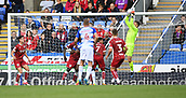 9th September 2017, Madejski Stadium, Reading, England; EFL Championship football, Reading versus Bristol City; Frank Fielding of Bristol City saves the shot at goal