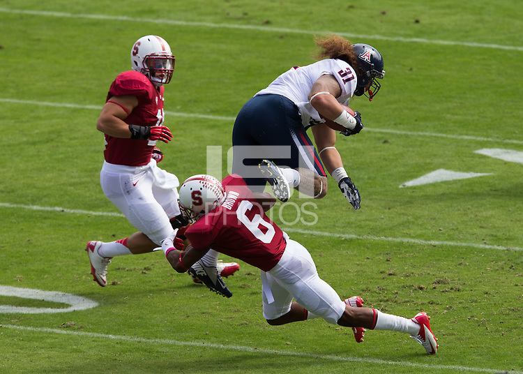 Stanford, CA -- October 6, 2012:  Terrence Brown in Stanford's game against Arizona at Stanford Stadium. Stanford defeated the Wildcats 54-48 in overtime.