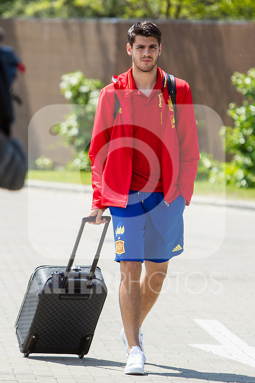 Spain's Alvaro Morata arrives at the concentration of national soccer team before the Uefa Euro 2016.  Jun 4,2016. (ALTERPHOTOS/Rodrigo Jimenez)