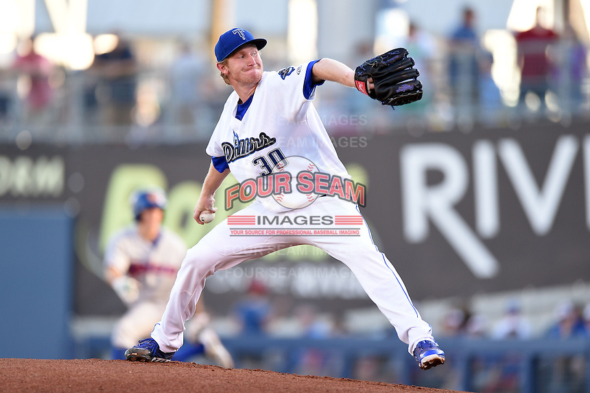 Tulsa Drillers pitcher Eddie Butler (30) delivers a pitch during a game against the Midland RockHounds on May 31, 2014 at ONEOK Field in Tulsa, Oklahoma.  Tulsa defeated Midland 5-3.  (Mike Janes/Four Seam Images)
