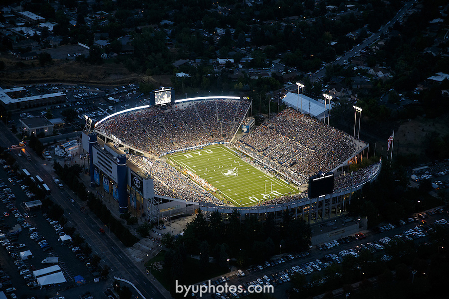 1309-12 496.CR2<br /> <br /> FTB LaVell Edwards Football Stadium aerial views during BYU vs Texas game<br /> <br /> September 9, 2013<br /> <br /> Photography by Mark A. Philbrick<br /> <br /> Copyright BYU Photo 2013<br /> All Rights Reserved<br /> photo@byu.edu  (801)422-7322
