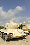 Israel, a Soviet T-34 tank on display at the Armored Corps Memorial Site and Museum in Latrun