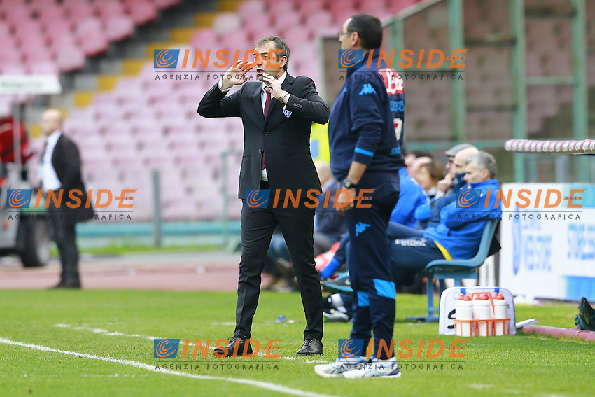 Marco Gianpaolo Empoli, Maurizio Sarri Napoli,  <br /> Napoli 31-01-2016 Stadio San Paolo<br /> Football Calcio Serie A 2015/2016 Napoli - Empoli<br /> Foto Cesare Purini / Insidefoto