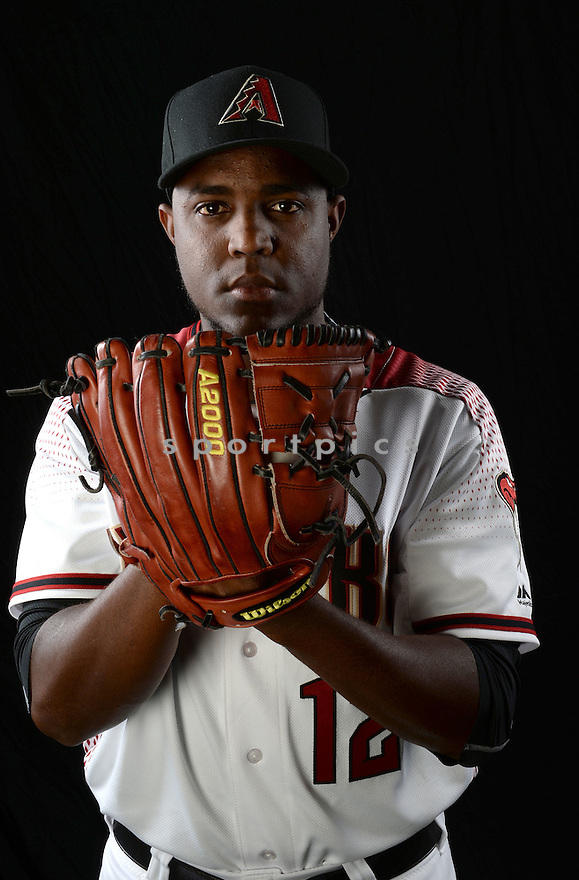 Arizona Diamondbacks Rubby De La Rosa (12) during photo day on February 28, 2016 in Scottsdale, AZ.