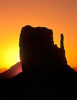 Sunrise on West Mitten in Monument Valley, Arizona