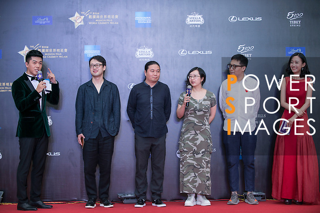 Su Biao, Ran Jianan, Wang Hailin, Dong Rennin, and Zhou Zhiyong walk the Red Carpet event at the World Celebrity Pro-Am 2016 Mission Hills China Golf Tournament on 20 October 2016, in Haikou, China. Photo by Marcio Machado / Power Sport Images