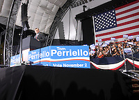 Oct 29, 2010. Virginia 5th District Representative Congressman Tom Perriello address a large crowd during a campaign rally that featured President Barack Obama Friday at the Charlottesville Pavilion in downtown Charlottesville, Va. Photo/Andrew Shurtleff