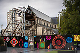 NEW ZEALAND, Christchurch, Ruins of the Christchurch Cathedral after the 2011 Earthquake, Ben M Thomas
