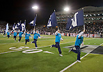 November 10, 2012: The Nevada cheerleaders perform before the Fresno State Bulldogs against the Nevada Wolf Pack NCAA football game played at Mackay Stadium on Saturday night in Reno, Nevada.