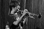 DC Stage, Kaohsiung -- Trumpeter Max Huang during a solo.