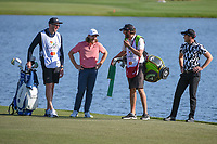Tommy Fleetwood (ENG) and Danny Willett (GBR) chat as they wait to putt on 6 during round 2 of the Arnold Palmer Invitational at Bay Hill Golf Club, Bay Hill, Florida. 3/8/2019.<br /> Picture: Golffile | Ken Murray<br /> <br /> <br /> All photo usage must carry mandatory copyright credit (&copy; Golffile | Ken Murray)