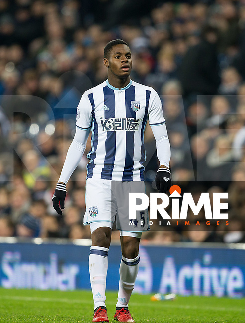 Jonathan Leko of West Bromwich Albion during the EPL - Premier League match between West Bromwich Albion and Manchester United at The Hawthorns, West Bromwich, England on 17 December 2016. Photo by Andy Rowland / PRiME Media Images.