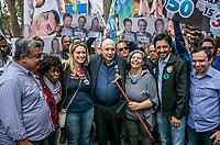 SAO PAULO, SP - 11.09.2018 - ELEI&Ccedil;&Otilde;ES-2018 - O candidato Henrique Meirelles faz campanha no Largo 13 de Maio na zona sul de S&atilde;o Paulo na manh&atilde; desta ter&ccedil;a-feira (11. O candidato do MDB comprimento eleitores e logistas da regi&atilde;o, estando acompanhado pelos candidatos a deputado federal Ze Turin e Ricardo Nunes e pela candidata ao senado, Cidinha Raiz.<br /> <br /> (Foto: Fabricio Bomjardim / Brazil Photo Press)