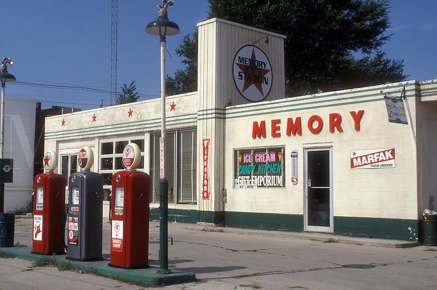 "Iowa, Winterset, Texaco Gas Station from ""Bridges of Madison County"" movie site in Winterset."