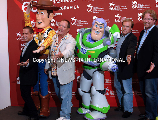 """JOHN LASSETER.and the Directors of Pixar were presented with Leone D'Oro Prize for Lifetime Achievement at the  66th Venice Film Festival , Venice_06/09/2009.Mandatory Credit Photo: ©NEWSPIX INTERNATIONAL..**ALL FEES PAYABLE TO: """"NEWSPIX INTERNATIONAL""""**..IMMEDIATE CONFIRMATION OF USAGE REQUIRED:.Newspix International, 31 Chinnery Hill, Bishop's Stortford, ENGLAND CM23 3PS.Tel:+441279 324672  ; Fax: +441279656877.Mobile:  07775681153.e-mail: info@newspixinternational.co.uk"""