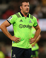 DURBAN, SOUTH AFRICA - MAY 05: Alex Ainley of the Pulse Energy Highlanders during the Super Rugby match between Cell C Sharks and Highlanders at Jonsson Kings Park Stadium in Durban, South Africa on Saturday, 5 May 2018. Photo: Steve Haag / stevehaagsports.com