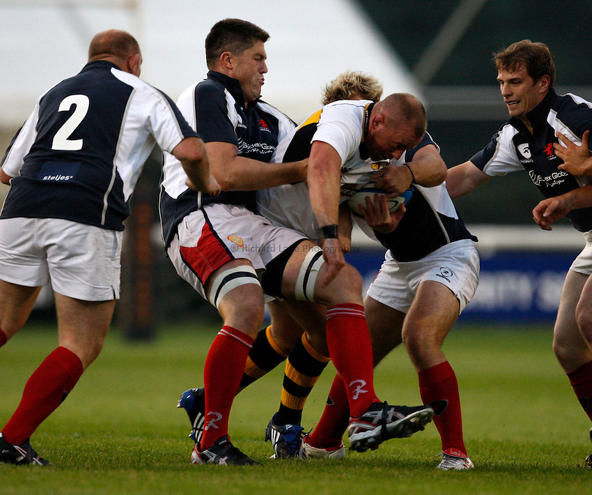 Photo: Richard Lane/Richard Lane Photography. London Scottish v London Wasps. Pre season friendly. 28/08/2008. Wasps' Joe Ward attacks the Scottish defence.