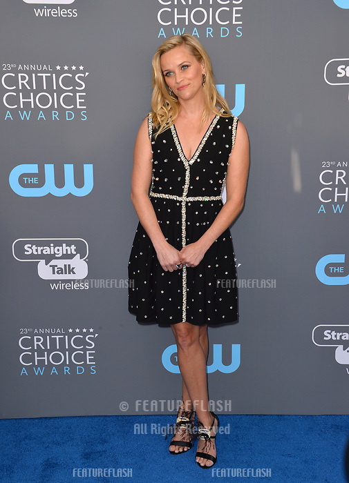 Reese Witherspoon at the 23rd Annual Critics' Choice Awards at Barker Hangar, Santa Monica, USA 11 Jan. 2018<br /> Picture: Paul Smith/Featureflash/SilverHub 0208 004 5359 sales@silverhubmedia.com