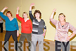 Phil O'Connell Line Dancing teacher left, going through the steps with Joan Keating, Mairead Doyle and Margaret Kirby at  Listowel community centre  on sunday were .   Copyright Kerry's Eye 2008