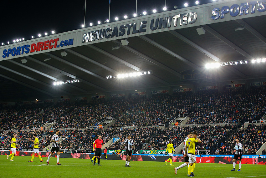 A general view of St James' Park, home of Newcastle United, splay continues in the first half<br /> <br /> Photographer Alex Dodd/CameraSport<br /> <br /> Emirates FA Cup Third Round - Newcastle United v Blackburn Rovers - Saturday 5th January 2019 - St James' Park - Newcastle<br />  <br /> World Copyright © 2019 CameraSport. All rights reserved. 43 Linden Ave. Countesthorpe. Leicester. England. LE8 5PG - Tel: +44 (0) 116 277 4147 - admin@camerasport.com - www.camerasport.com