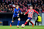 Peter Ankersen (L) of FC Copenhague fights for the ball with Kevin Gameiro of Atletico de Madrid during the UEFA Europa League 2017-18 Round of 32 (2nd leg) match between Atletico de Madrid and FC Copenhague at Wanda Metropolitano  on February 22 2018 in Madrid, Spain. Photo by Diego Souto / Power Sport Images