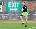 16/10/2010   Copyright  Pic : James Stewart.sct_jsp001_stirling_v_dundee  .::  DUNDEE KEEPER RAB DOUGLAS WARMS UP BEFORE THE GAME ::  .James Stewart Photography 19 Carronlea Drive, Falkirk. FK2 8DN      Vat Reg No. 607 6932 25.Telephone      : +44 (0)1324 570291 .Mobile              : +44 (0)7721 416997.E-mail  :  jim@jspa.co.uk.If you require further information then contact Jim Stewart on any of the numbers above.........