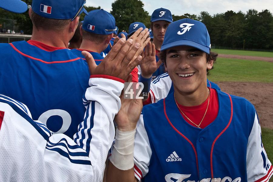 Baseball - 2009 European Championship Juniors (under 18 years old) - Bonn (Germany) - 03/08/2009 - Day 1 - Maxime Lefevre (France)