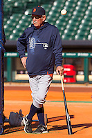 Detroit Tigers manager Jim Leyland before the MLB baseball game against the Houston Astros on May 3, 2013 at Minute Maid Park in Houston, Texas. Detroit defeated Houston 4-3. (Andrew Woolley/Four Seam Images).