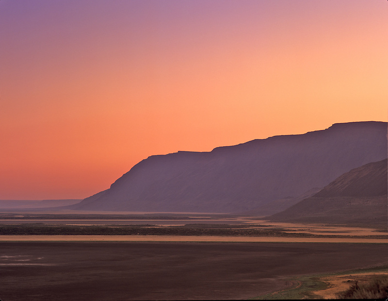 Poker Jim Ridge at sunrise. Hart Mountain National antelope Refuge, Oregon