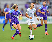 Orlando, FL - Saturday July 20, 2019:  Rachel Hill #15 during a regular season National Women's Soccer League (NWSL) match between the Orlando Pride and the Sky Blue FC at Exploria Stadium.