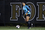 WINSTON-SALEM, NC - NOVEMBER 10: Georgetown's Arielle Schechtman. The Wake Forest University Demon Deacons hosted the Georgetown University Hoyas on November 10, 2017 at W. Dennie Spry Soccer Stadium in Winston-Salem, NC in an NCAA Division I Women's Soccer Tournament First Round game. Wake Forest advanced 2-1 on penalty kicks after the game ended in a 0-0 tie after overtime.