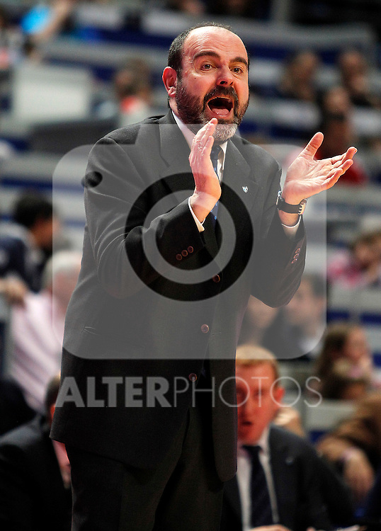 Asefa Estudiantes' coach Trifon Poch during Liga Endesa ACB match.April 15,2012. (ALTERPHOTOS/Acero)