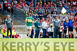 Kerry in action against  Cork in the Munster Senior Football Final at Fitzgerald Stadium on Sunday.